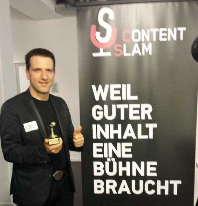 Zweiter Platz Content Slam Düsseldorf Business Events